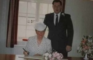 Dianne and Adrian on their wedding day