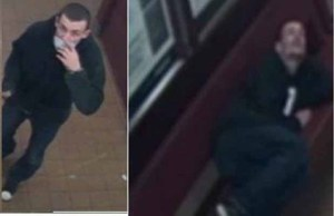 The man who damaged Lichfield City railway station caught on camera