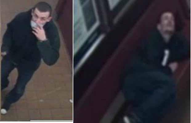 The man who damaged Lichfield City railway station caught on camera