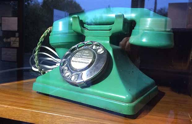 The jade green phone found in Lichfield