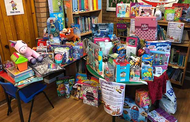 Some of the gifts donated to the Spark centre's appeal
