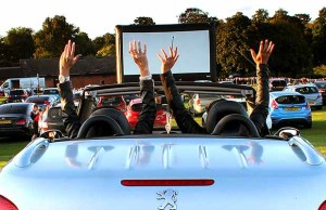 Drive-in movies in Beacon Park