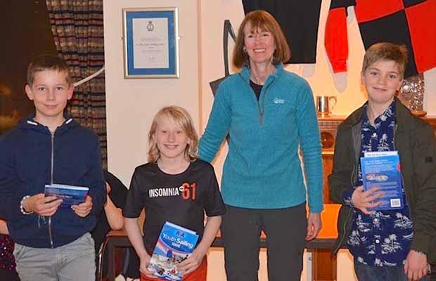 Young sailors receiving their awards