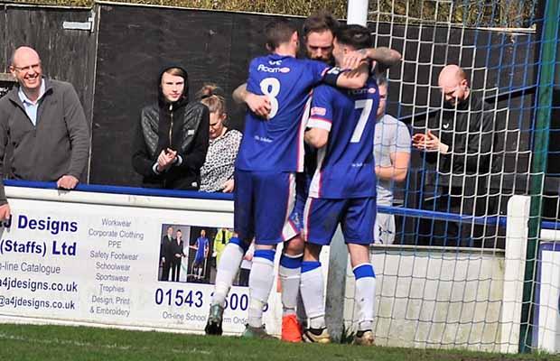Jack Lovatt celebrates with team mates