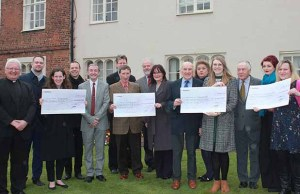The presentation to the Lichfield City Art Fund recipients