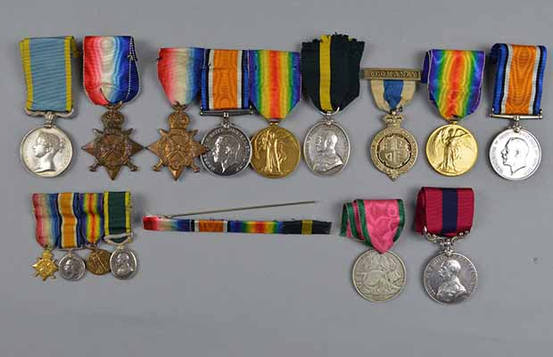 Some of the medals going under the hammer