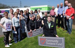Members of some of the groups benefiting from the Community Dividend Fund money