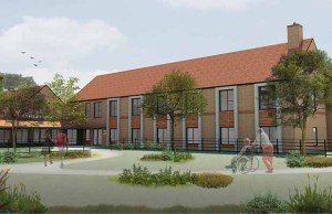 An artist's impression of the new Fradley care home