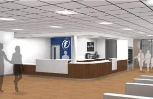 An artist's impression of the new reception area at Burntwood Leisure Centre