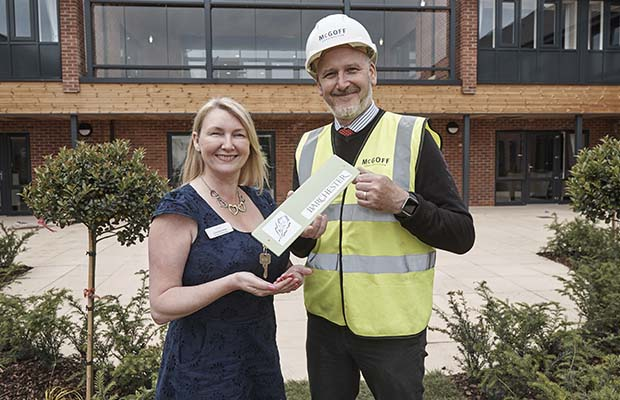 The keys to the new care home are handed over