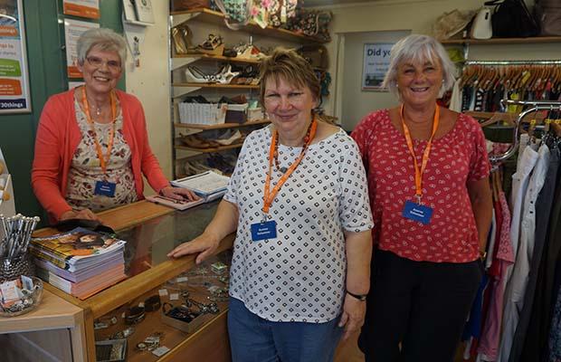 Volunteers at the Acorn Children's Hospice shop