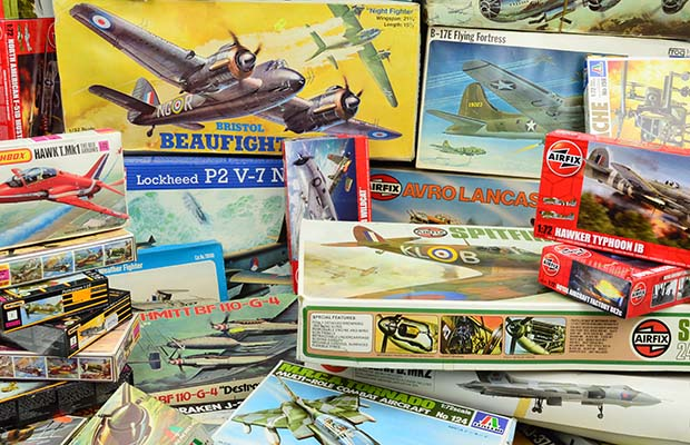 Some of the model aircraft kits going under the hammer