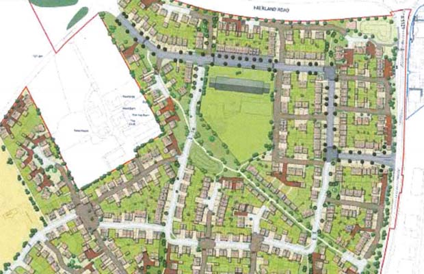 The proposed layout of the new Deanslade development