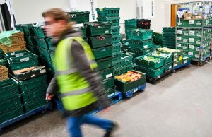 Foodbank donations being prepared for distribution