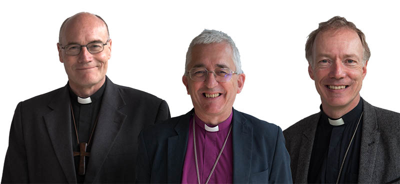 Bishops Geoff Annas, Michael Ipgrave and Clive Gregory