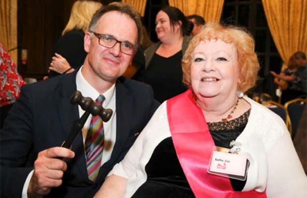 Charles Hanson with Pathway chief executive Kathy Coe