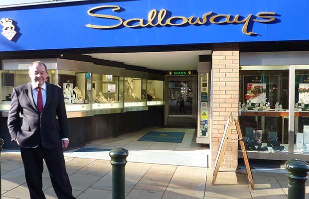 Nigel Salloway outside the shop in Lichfield city centre