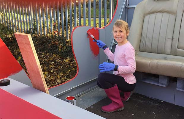 Santa's new sleigh gets a lick of paint