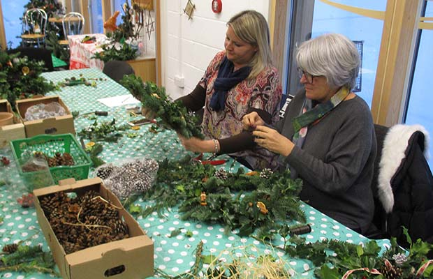 Christmas wreath workshop 4
