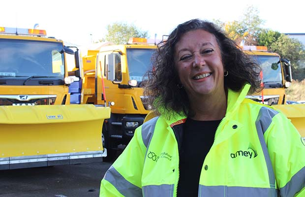 Helen Fisher with the Gritters