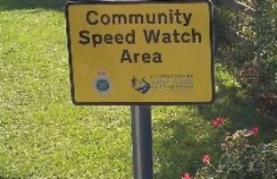 A community speed watch sign
