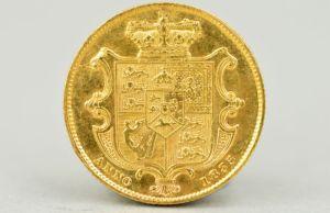 The 1835 William IV gold full sovereign