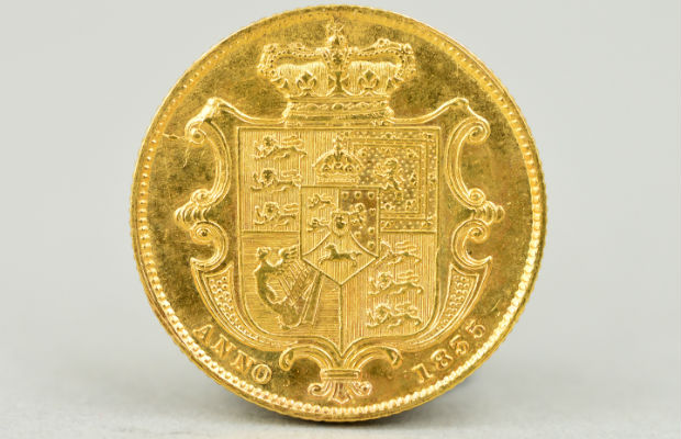 The 1835 William IV gold full sovereign
