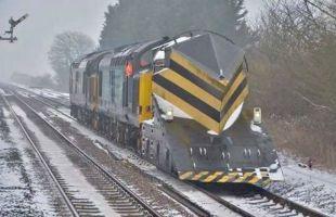 A snow plough train