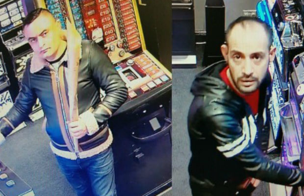 The two men caught on CCTV