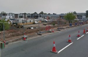 The Imperial Retail Park during construction. Pic: Google Streetview