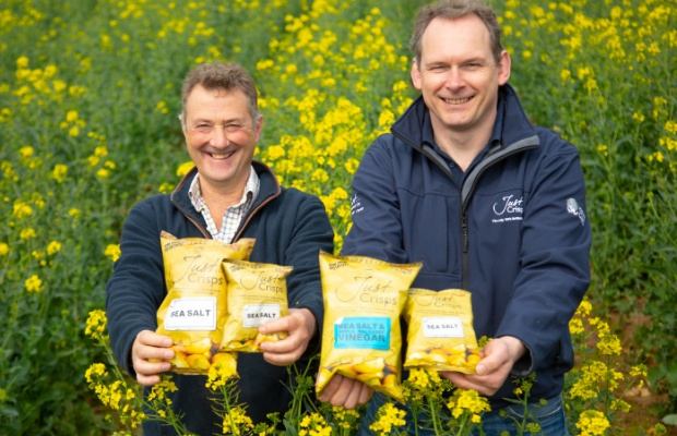 Anthony Froggatt, managing director at Just Crisps and David Wedgwood, the company's commercial director