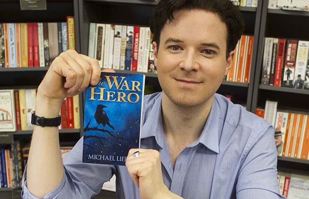 Author Michael Lieber at the launch of his book The War Hero