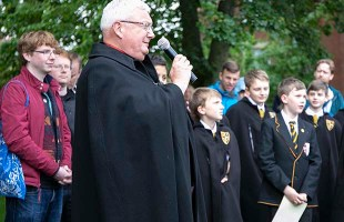 The Dean of Lichfield at the official opening of the Peace Woodland. Pic: Hannah Golding