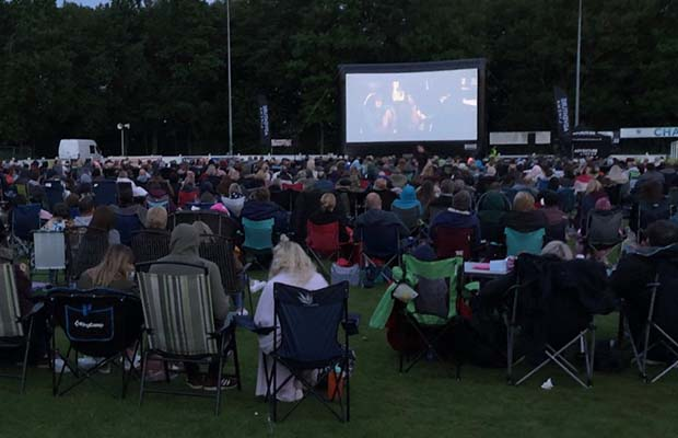 Crowds enjoying one of the films. Pic: Gary Cater