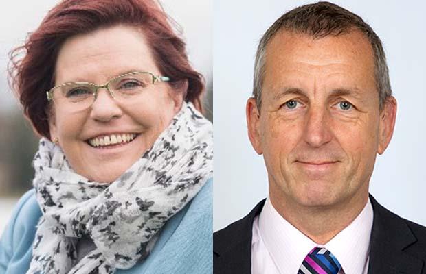 Joanne Grange and Jamie Checkland