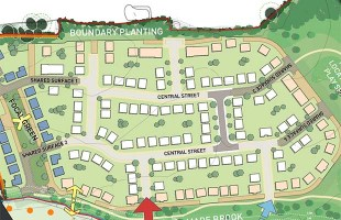 The proposed layout for the new homes in Streethay