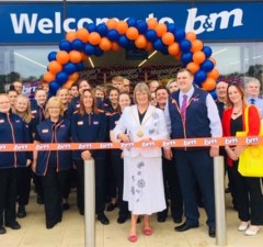 The opening of the new B&M store in Lichfield