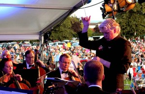 Dr Richard Jenkinson conducting the British Police Symphony Orchestra at the Lichfield Proms