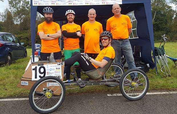 The Lichfield Re:Cycle pedal car team