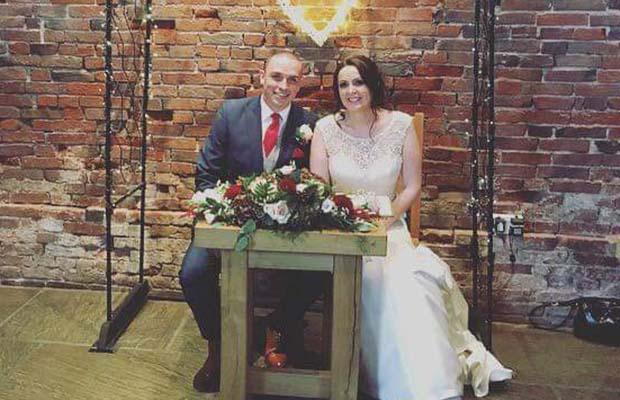 Phil and Vikki Kemp on their wedding day