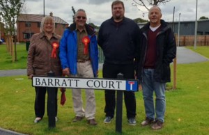 Labour representatives during the street surgery