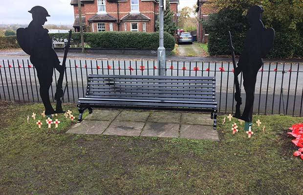 The memorial at Prince's Park in Burntwood
