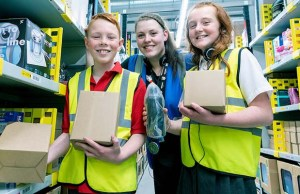 Pupils from Greysbrooke Primary School during their visit to the Amazon centre in Rugeley