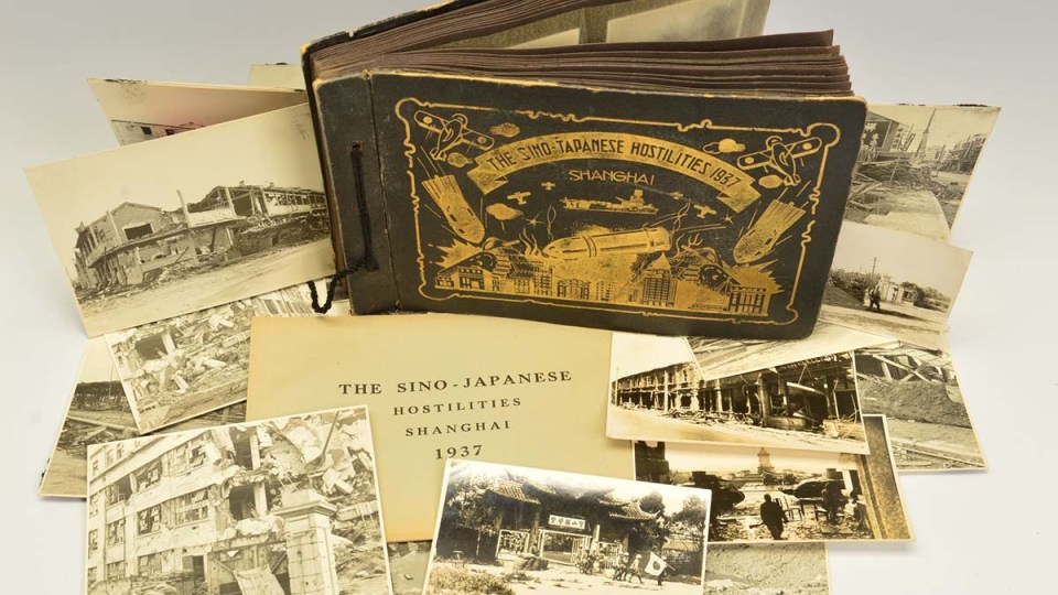 The photo album gifted to Albert Aiers