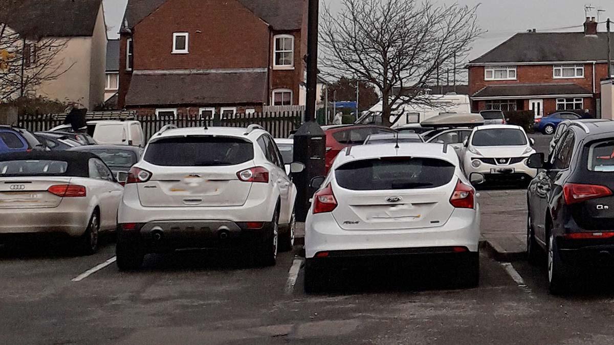 The car park at Sankeys Corner