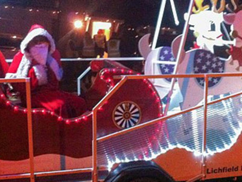 The Lichfield Round Table Santa sleigh