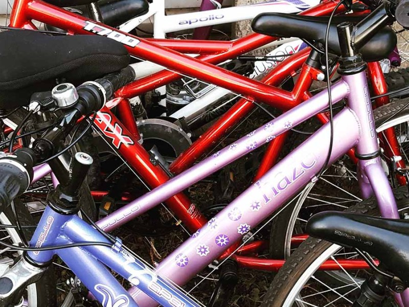 Some of the donated bikes