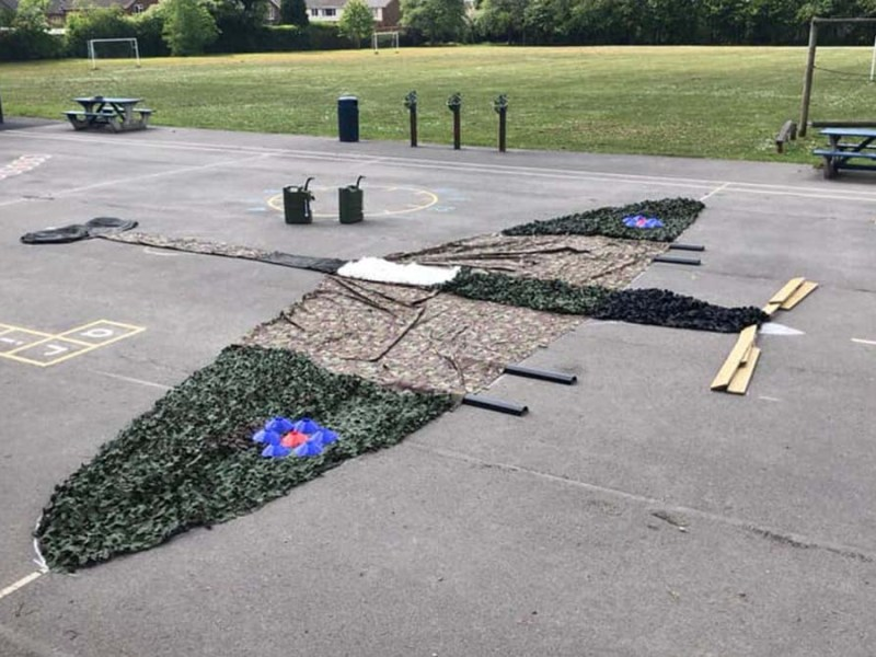 The Spitfire created by St Joseph and St Theresa Primary School children