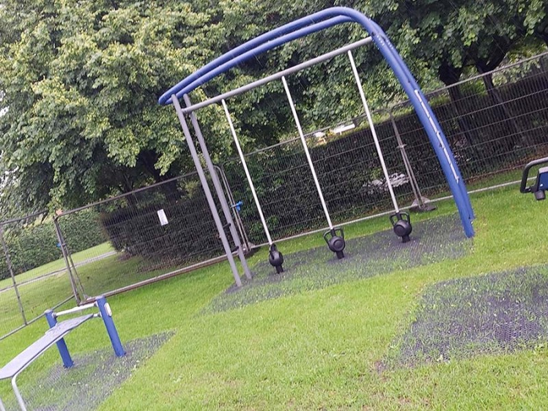 The new outdoor gym at Chase Terrace park