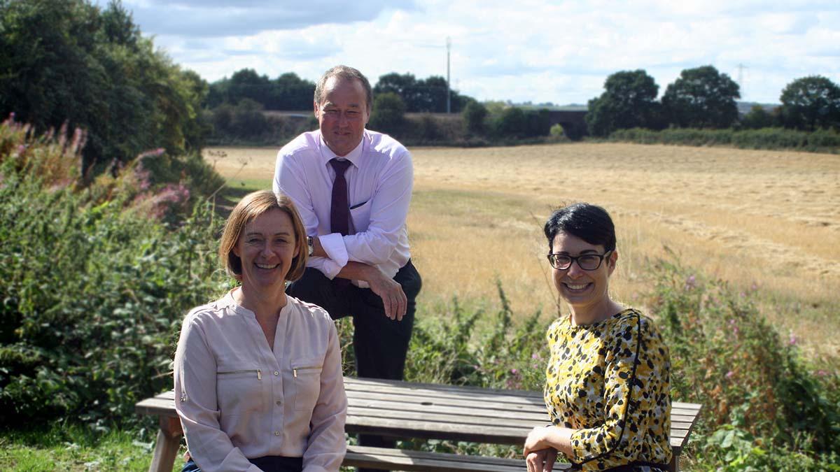 Joanna Parkin with Stuart McIntosh and Rebecca Head